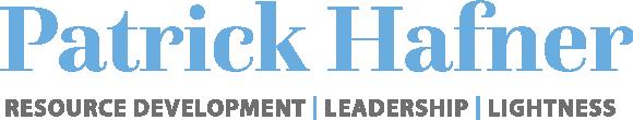 Patrick Hafner –Leadership, Resource Developement, Lightness